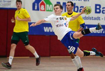 Luca Baur, hier beim jüngsten Testspiel, ist aus dem Jugendbundesligateam in den Zweiligakader aufgerückt | Bildquelle: sportfotoeisenach