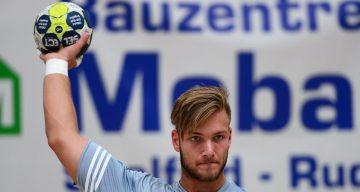 Kreisspieler Justin Mürköster, hier beim Testspiel am Wochenende gegen den HSV Bad Blankenburg, ist von TuSEM Essemn zum ThSV Eisenach gekommen | Bildquelle: sportfotoeisenach