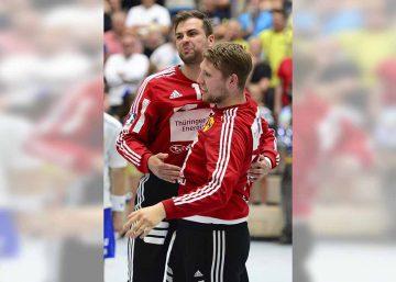 Die ThSV-Torhüter Stanislaw Gorobtschuk und Jan-Steffen Redwitz (re.) freuen sich auf die neue Saison | Bildquelle: © Frank Arnold • sportfotoseisenach / ThSV Eisenach
