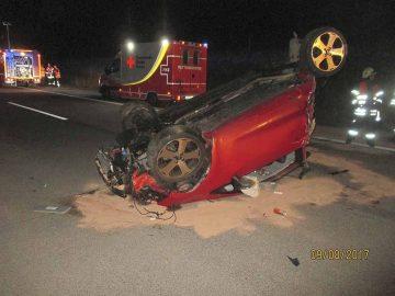 Das Auto wurde stark deformiert | Bildquelle: © Thüringer Polizei Autobahnpolizeiinspektion