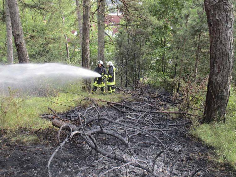 Löscheinsatz wegen Waldbrand im Karlswald   Bildquelle: © Stadt Eisenach