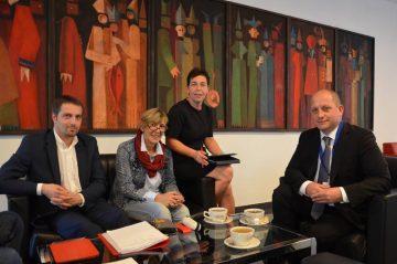von links nach recht: Ronald Hande, Ute Lukasch, Anja Müller, Torsten Ahnemüller | Bildquelle: © Büro MdL Anja Müller/ DIE LINKE