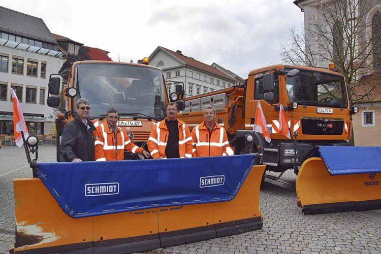 v.l.: Bolko Schumann, Bernd Weißenborn, Holger Rudolph, Thomas Filler | Bildquelle: © Stadt Eisenach