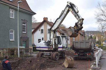 Straßenbauarbeiten in der Bach-Straße | Bildquelle: © Stadt Eisenach