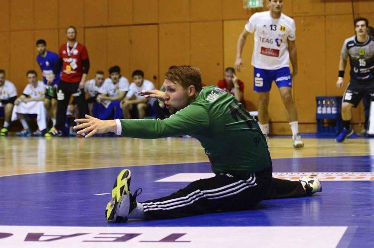 Keeper Jan-Steffen Redwitz hofft auf eine gute Zusammenarbeit mit seiner Abwehr. | Bildquelle: © Frank Arnold • sportfotoseisenach / ThSV Eisenach