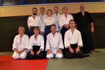 Aikido Gruppe mit Meister Frank Albrecht (ganz rechts) | Bildquelle: © PSV Eisenach