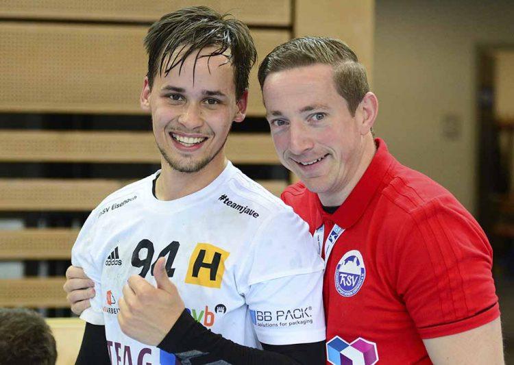 Auch Willy Weyhrauch profitiert von der Zusammenarbeit mit Athletiktrainer Alexander Nöthe (re.) | Bildquelle: © Frank Arnold • sportfotoseisenach / ThSV Eisenach