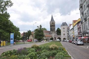 Sperrung Karlsplatz: Fahrspur vor Lutherdenkmal