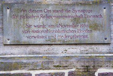 Eisenach erinnert mit stadtweiter Gedenkaktion an das Pogrom gegen die jüdischen Einwohner vor 80 Jahren