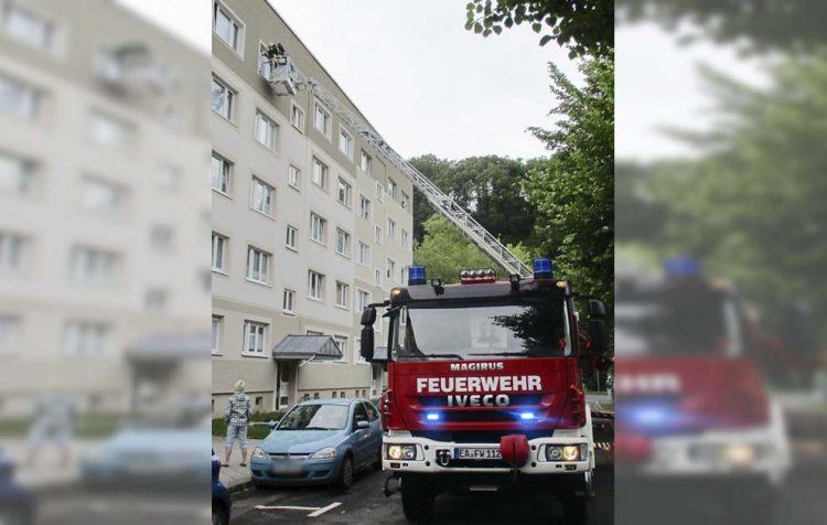 Drehleitereinsatz wegen angebranntem Essen | Bildquelle: © Stadt Eisenach