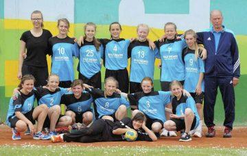 Die weibliche Jugend D des SV Wartburgstadt – verstärkt mit drei Mädels der HSG Werratal - beim Wismar Junior Cup 2017   Bildquelle: © Verein SV Wartburgstadt / Th. Levknecht