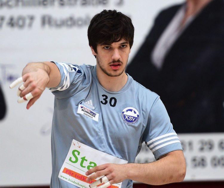 Marcel Popa, hier beim Testspiel der Eisenacher gegen den HSV Bad Blankenburg, trug in der Vorsaison das Trikot des SV Anhalt Bernburg | Bildquelle: sportfotoeisenach