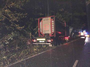 Lkw-Unfall zwischen Creuzburg und Mihla
