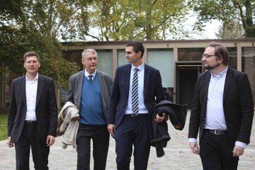 v.l.n.r. Christian Hirte, Ulrich Petzold, Sepp Müller, Mirko Gutjahr (Kurator nationale Sonderausstellung)   Bildquelle: © Büro Christian Hirte, MdB