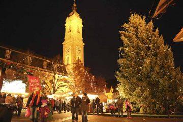 Drei Weihnachtsbäume in der Eisenacher Innenstadt