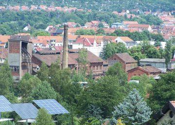 Das Gaswerk in Eisenach   Bildquelle: © Metilsteiner - https://de.wikipedia.org/wiki/Gaswerk_Eisenach