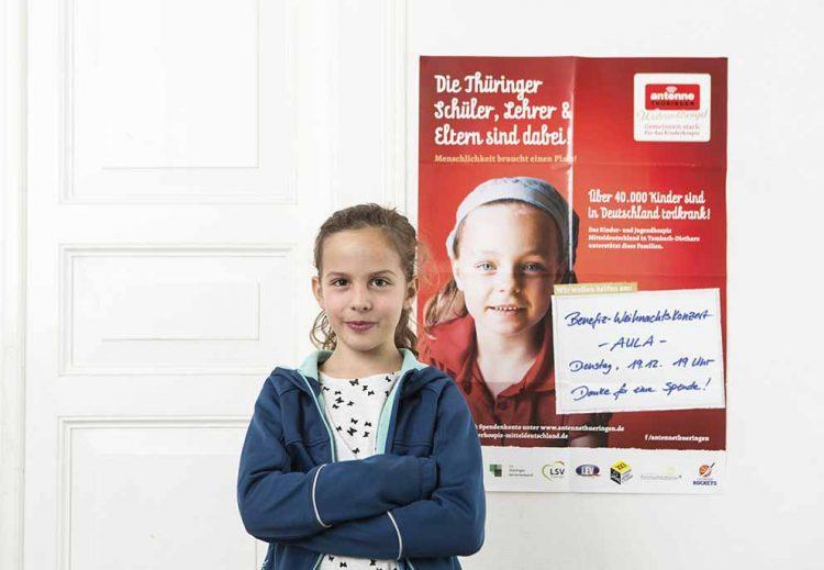 Thüringer Schüler helfen aktiv der Benefizkampagne   Bildquelle: © Guido Werner / Kinderhospiz Mitteldeutschland Nordhausen e.V.