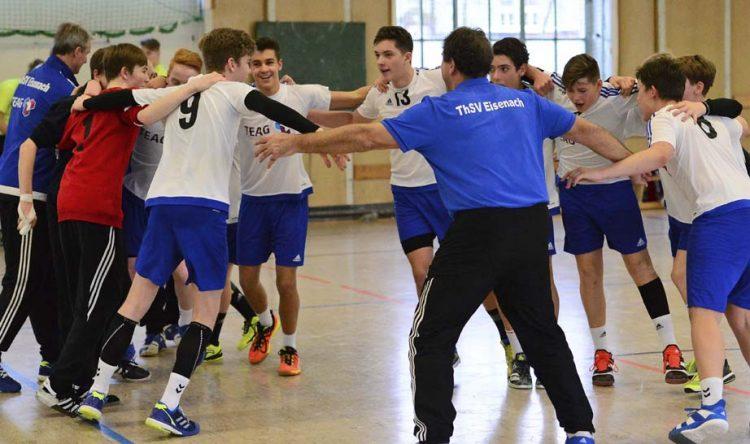In der Vorwoche bejubelte die ThSV-C-Jugend ausgelassen den Landesmeistertitel. | Bildquelle: © Frank Arnold • sportfotoseisenach / ThSV Eisenach