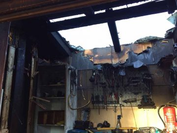 Gartenhütte Brandschaden | Bildquelle: © Landespolizeiinspektion Suhl