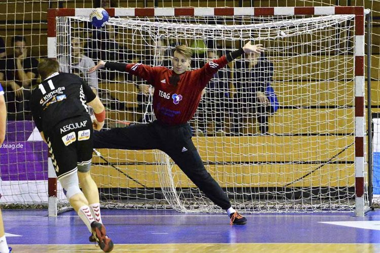 Wer rückt an die Seite von Keeper John Martin? | Bildquelle: © Frank Arnold • sportfotoseisenach / ThSV Eisenach