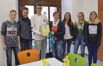 Qualitätssiegel für Schülerfirma der Goetheschule Eisenach   Bildquelle: © Stadt Eisenach