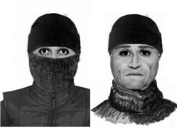 unbekannter Täter mit und ohne Maske | Bildquelle: © Landespolizeiinspektion Gotha