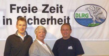 Der frisch gewählte, geschäftsführende Vorstand der DLRG Eisenach (von links): Peter Urbach, Eva Lützelberger, Maik Weiland | Bildquelle: © Maik Weiland/ DLRG Eisenach
