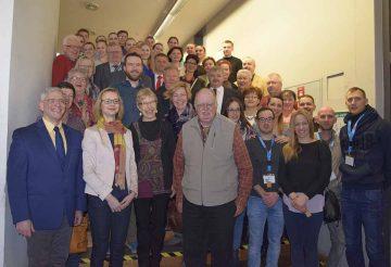Oberbürgermeisterin Katja Wolf (erste Reihe, Zweite von links) gemeinsam mit den Gästen aus den Eisenacher Partnerstädten | Bildquelle: © Stadt Eisenach