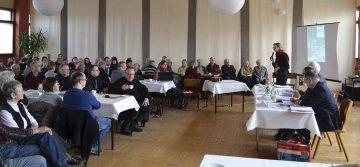 Etwas 120 Bürgerinnen und Bürger wollten hören, wie der aktuelle Sachstand zum Thema SuedLink ist. | Bildquelle: © Stadt Eisenach