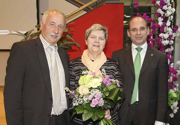 Die langjährige Leiterin der Hauptstelle der Wartburg-Sparkasse, Ursula Kellner, wurde vom Vorstand der Wartburg-Sparkasse am 12. März 2018 offiziell in den wohlverdienten Ruhestand verabschiedet. | Bildquelle: © Volker Weber / Wartburg-Sparkasse