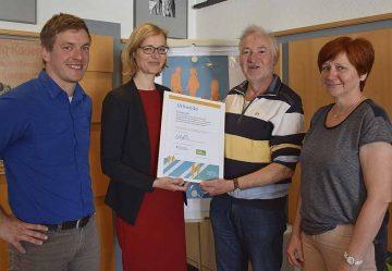 v.l.: Tom Schiller (Verkehrsplaner), OB Katja Wolf, Bernd Herzog-Schlagk, Kerstin Menge (Amtsleiterin – Amt für Stadtentwicklung) | Bildquelle: © Stadt Eisenach