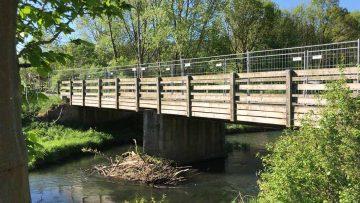 An der Nesse-Brücke wird wieder gearbeitet