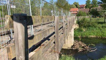 Arbeiten an Nesse-Brücke unterbrochen