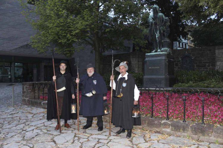 Die Nachtwächterherren Kellner, Schubert und Brandt (v.l.) | Bildquelle: © Torsten Daut
