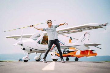 Speerwurf-Europameister Thomas Röhler ist zukünftig Markenbotschafter für Flight Design und Rotorvox aus Eisenach | Bildquelle: © Thomas Röhler / LIFT Air