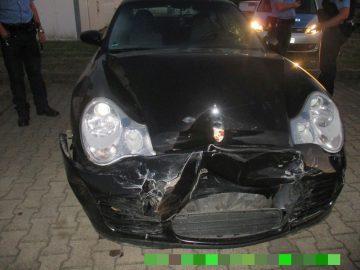 der Porsche   Bildquelle: © Thüringer Polizei Autobahnpolizeiinspektion