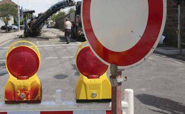 Straßenreparaturen: Zwei Baustellen erfordern halbseitige Straßensperrungen