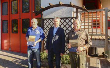 Sven Ißleib, Dr. Ulrich Feder, Wolfgang Bader. | Bildquelle: © Jörg Klingelhöfer / Landratsamt Wartburgkreis