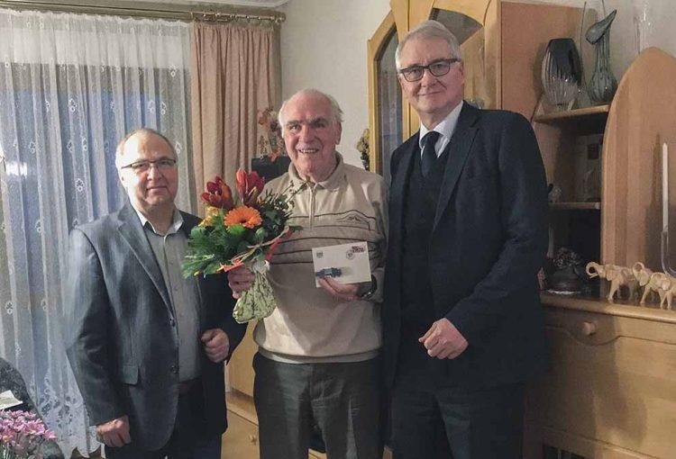 v.l.n.r.: Wolfram Böhnhardt, Rainer Schönewald, Matthias Doht | Bildquelle: © Brunhild Schönewald / Stiftung Automobile Welt Eisenach