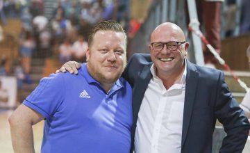 ThSV-Vizepräsident Peter Krauß (re.) und ThSV-Manager René Witte | Bildquelle: © Fotostudio Gräbedünkel / ThSV Eisenach