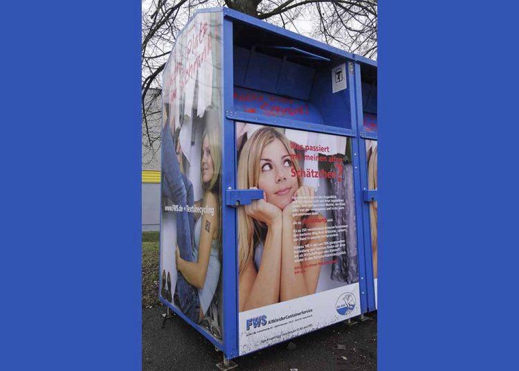 Ein Kleidercontainer in neuem Gewand.   Bildquelle: © Steffen Schulze/ DLRG Eisenach