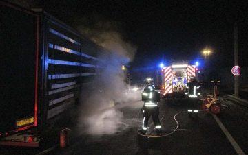 Eisenacher Feuerwehr löschte Lkw-Brand