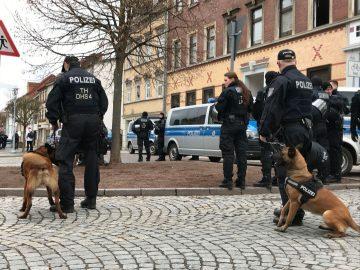 Bilder von der Antifa Demonstration in Eisenach