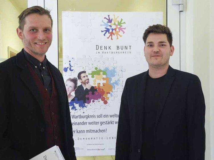 Simon Ortner (links) und Kevin Rodeck | Bildquelle: © S. Blume / Landratsamt Wartburgkreis