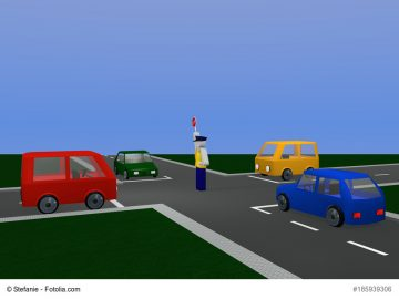 """""""Manuelle"""" Verkehrsregelung auf der Europa-Kreuzung"""