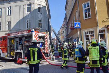 Nach dem Großbrand in Eisenach: Oberbürgermeisterin spricht Anteilnahme aus und dankt allen Helfern – Spendenkonto eingerichtet