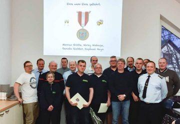 Vollhaus zur Jahreshauptversammlung der Feuerwehr Großenlupnitz