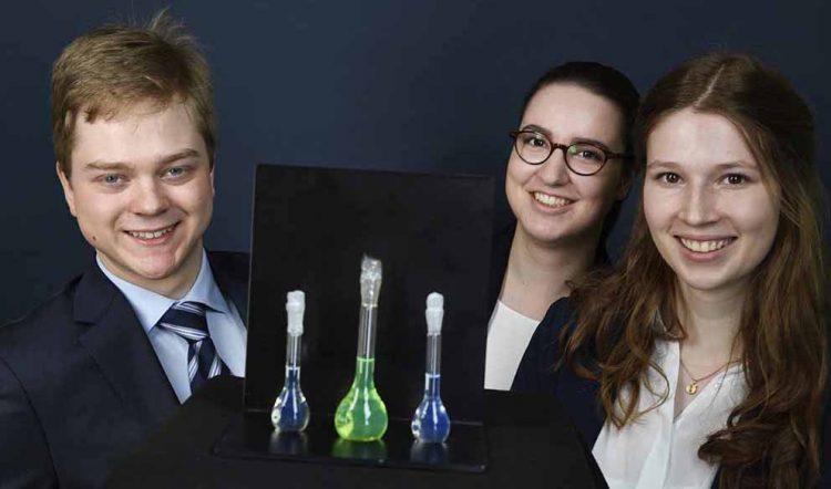 Bundeswettbewerb Jugend Forscht 2019 in Chemnitz •Textmarker für Proteine – Synthese neuer Thiazolderivate für die Fluoreszenzmikroskopie   Bildquelle: © Max Lautenschläger für Jugend Forscht