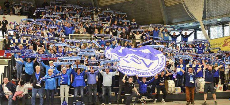 Die ThSV-Fans waren auch auswärts eine Macht | Bildquelle: © Frank Arnold • sportfotoseisenach / ThSV Eisenach