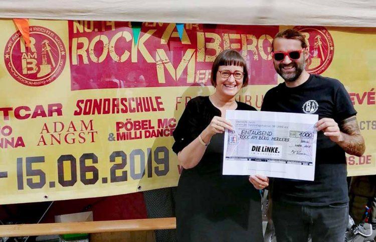 links Martina Renner und rechts Sven Schlossarek | Bildquelle: © Rock am Berg Merkers e.V.